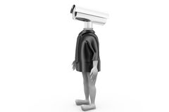 3d man security camera concept Stock Images