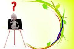 3d man seeking answer illustration Royalty Free Stock Image