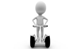 3d man segway concept Royalty Free Stock Photo