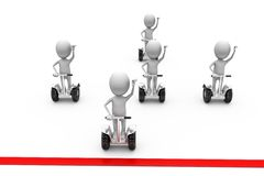3d man segway race concept Royalty Free Stock Photography
