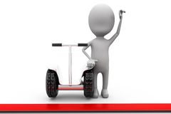 3d man segway winner concept Stock Photo