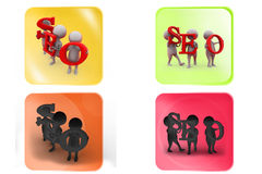 3d man SEO icon Royalty Free Stock Images