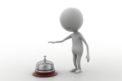 3d man service bell concept Royalty Free Stock Photo