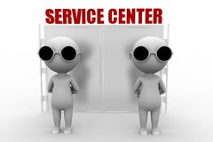 3d man service center Royalty Free Stock Image