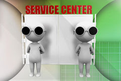 3d man service center illustration Royalty Free Stock Photos