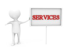 3d man service concept Stock Photography