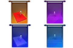 3D Man with shape puzzle concept icon Royalty Free Stock Images