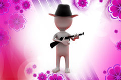 3d man sheriff  illustration Stock Photography