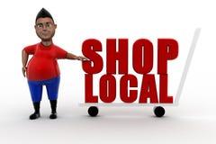 3D man shop local Stock Image