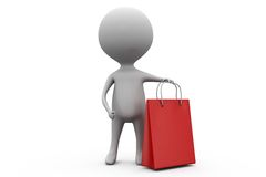 3d man shoping concept Stock Image