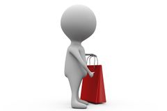 3d man shoping concept Royalty Free Stock Photo