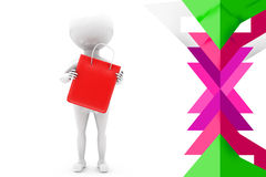 3d man shoping illustration Royalty Free Stock Images