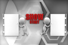 3d man  show start illustration Stock Images