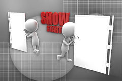 3d man  show start illustration Royalty Free Stock Image