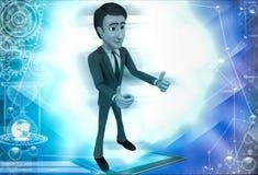 3d man show thumbs up illustration Royalty Free Stock Photos