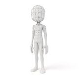 3d man with showing geometry edges Royalty Free Stock Photography