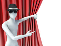 3d man showing a side Royalty Free Stock Photos