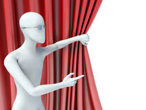 3d man showing a side.  Royalty Free Stock Photos