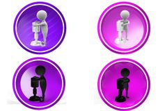 3D Man sing concept icon Royalty Free Stock Photography