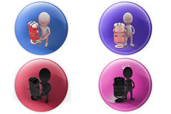 3d man sing icon Royalty Free Stock Image
