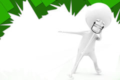 3d man sing illustration Stock Image