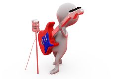 3d man singer concept Royalty Free Stock Photo