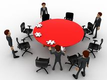 3d man sitting in conference room for office meeting concept Stock Photo