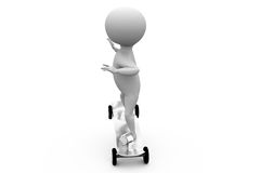 3d man sketeboard concept Royalty Free Stock Photo