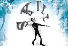 3d man skill illustration Stock Images