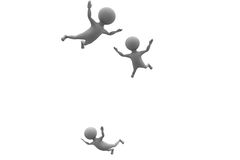 3d man sky diving concept Stock Photos