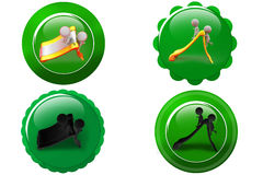 3d Man slide icon Royalty Free Stock Photography
