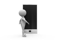 3d man smartphone concept Royalty Free Stock Photos