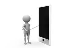 3d man smartphone concept Stock Photos