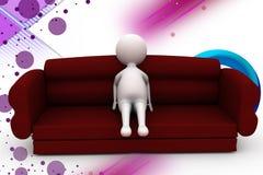 3d man sofa  illustration Stock Photo
