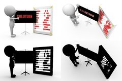 3d man solution concept collections with alpha and shadow channel Stock Photography