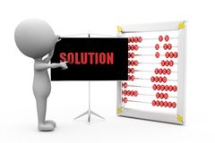 3d man solution concept Stock Photo
