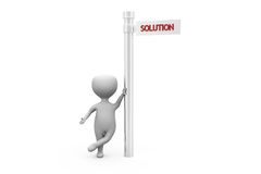 3d man solution sign concept Stock Images