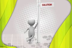 3d man solution sign illustration Stock Photography
