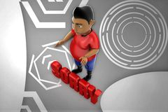 3d man sorry illustration Royalty Free Stock Photography