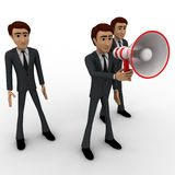 3d man speak loudly in speaker concept Royalty Free Stock Photo