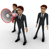 3d man speak loudly in speaker concept Stock Image