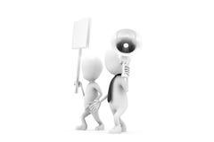 3d man speaker board concept Stock Image