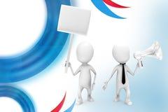 3d man speaker board  illustration Royalty Free Stock Image