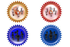 3d man speaker group icon Royalty Free Stock Image