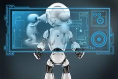 3d man speaker loud hologram Stock Image