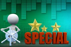 3d man special illustration Royalty Free Stock Images