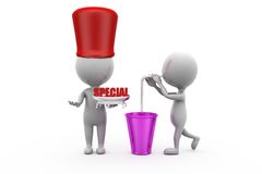 3d man special juice concept Royalty Free Stock Photos