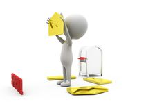 3d man special mail concept Royalty Free Stock Photos