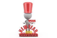 3d man 2015 special thanksgiving concept Stock Image