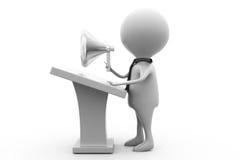 3d man speech speaker concept Stock Photo